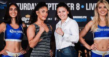 Amanda Serrano y Yamila Reynoso