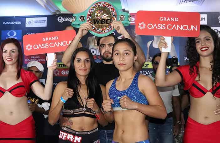 Esmeralda 'La Joya' Moreno, y Yesenia 'La Niña' Gómez