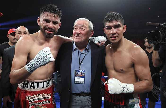 José Ramírez, Bob Arum y Antonio Orozco