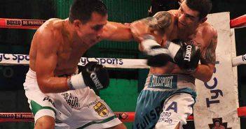 Pablo Ojeda vs Fabian Orozco (FOTOS: RAMÓN CAIRO - ARGENTINA BOXING PROMOTIONS)