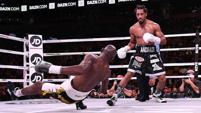 Demetrius Andrade derriba a Kautondokwa