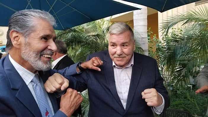 Benjamín Rendoón y Michael Carbajal (Foto: EFHV)