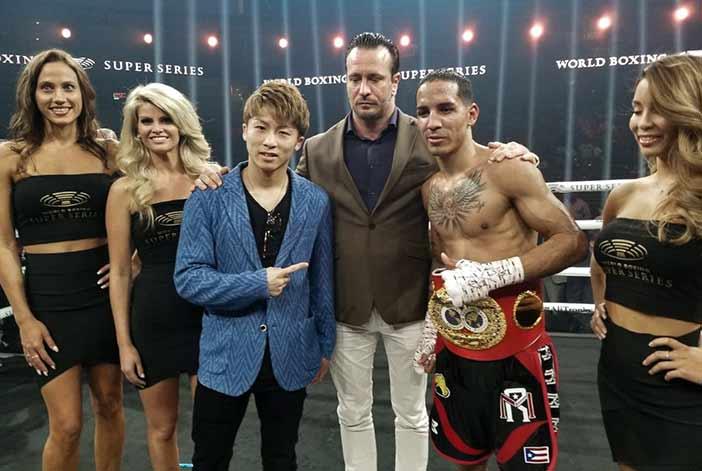 Naoya Inoue y Emmanuel Rodríguez (Foto: Alex Nunez / Fresh Productions Boxing)