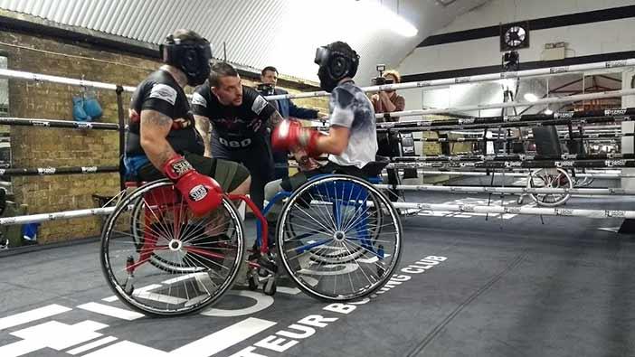 Boxeo adaptado en silla de ruedas