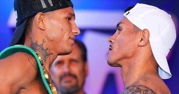 Miguel Berchelt vs Miguel Román en el pesaje