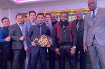 Pacquiao y Broner promocional pelea