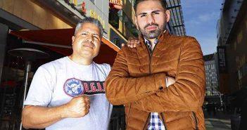 Robert García y José Ramírez (Mikey Williams / Top Rank)