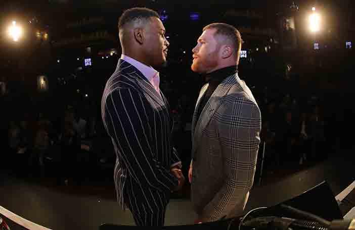 Jacobs vs Canelo (Foto: Tom Hogan)