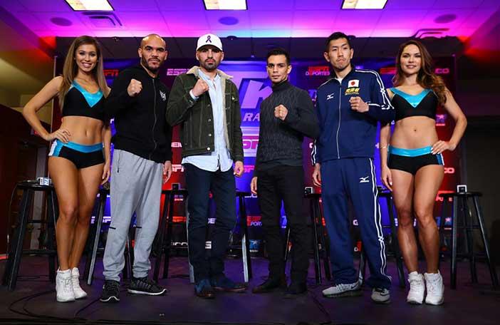 Beltrán, José Ramírez, Zepeda y Okada (Mikey Williams / Top Rank)