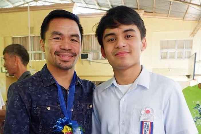 Manny Pacquiao y su hijo Emmanuel Jimuel Pacquiao Jr.