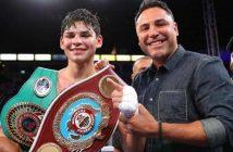 Ryan García y Óscar De la Hoya