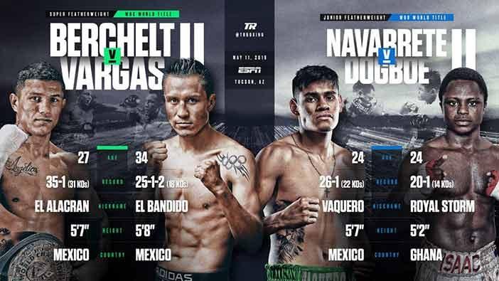 Berchelt vs Vargas y Navarrete vs Dogboe