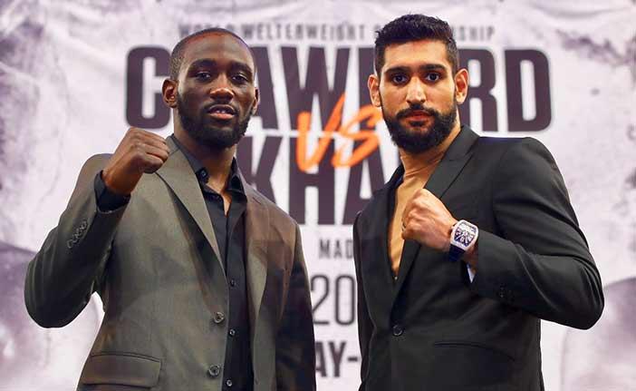Crawford vs Khan (Foto: Mikey Williams/Top Rank)