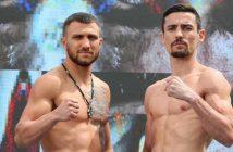 Lomachenko y Crolla en el pesaje