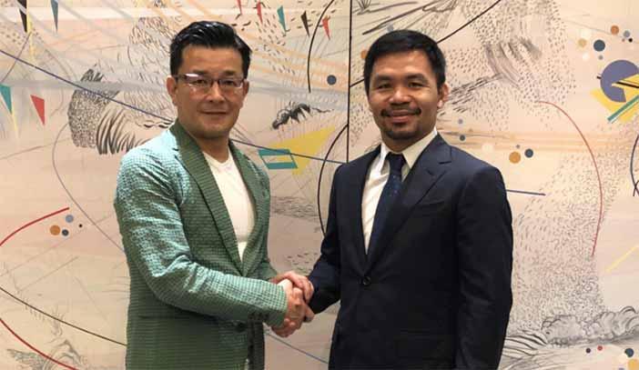 Nobuyuki Sakakibara y Manny Pacquiao