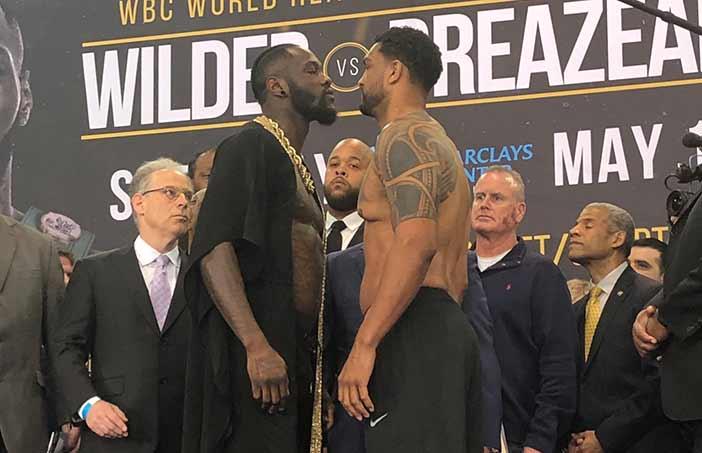 Wilder vs Breazeale en el pesaje