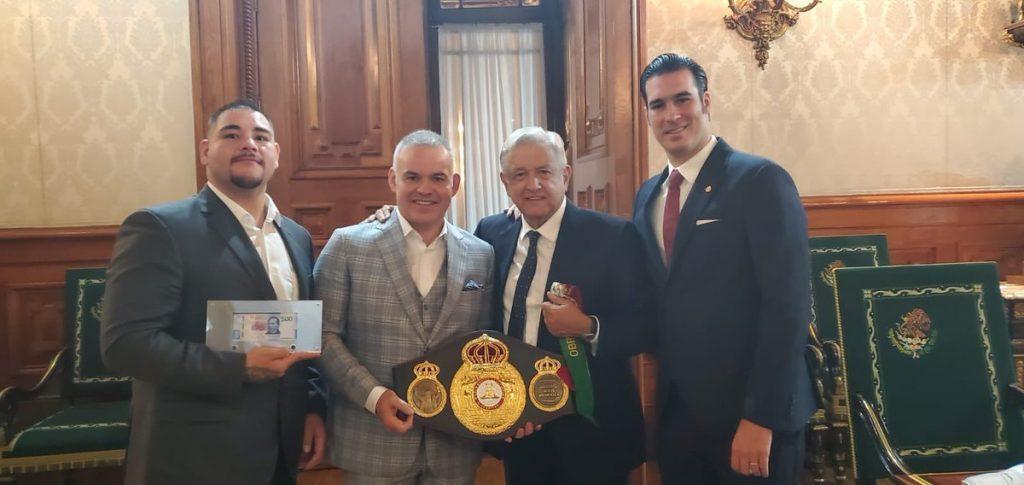 López Obrador recibe a Andy Ruiz Jr.