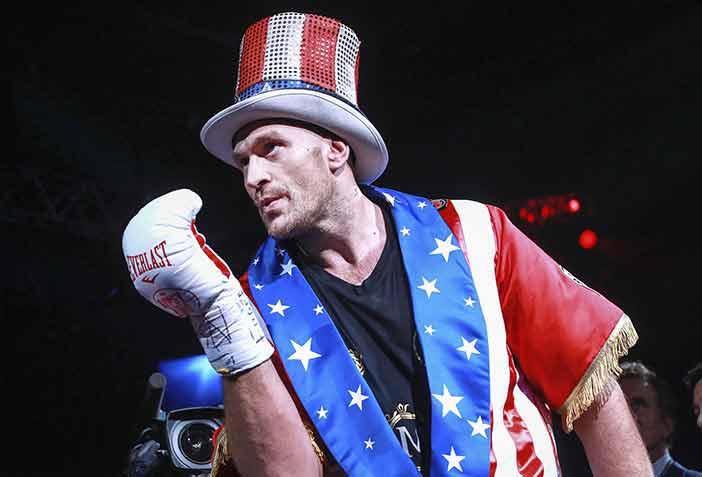 Tyson Fury se gana al público americano ( Mikey Williams / Top Rank)