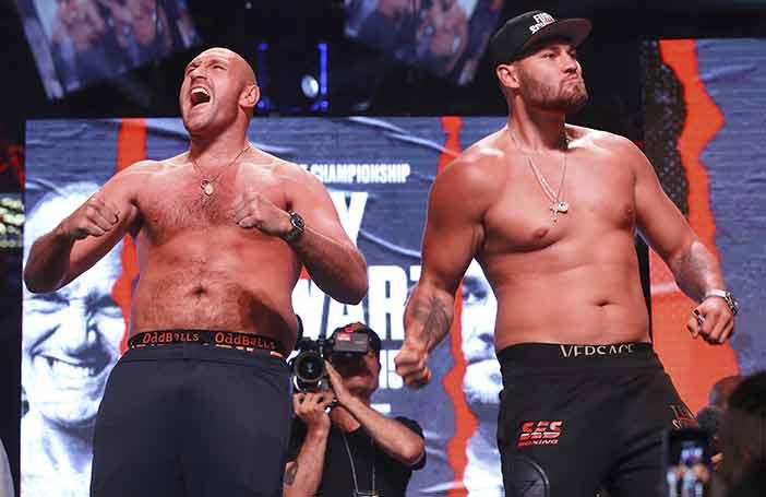 Tyson vs Tom Schwarz(Mikey Williams / Top Rank)