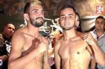 """""""Veneno"""" Aréchiga y """"Changuito"""" Alarcón (otos: Luis Zápari, Zápari Boxing Promotions)"""