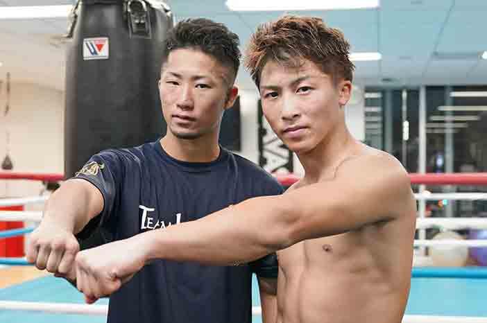 Takuma Inoue y Naoya Inoue (Foto: Naoki Fukuda)