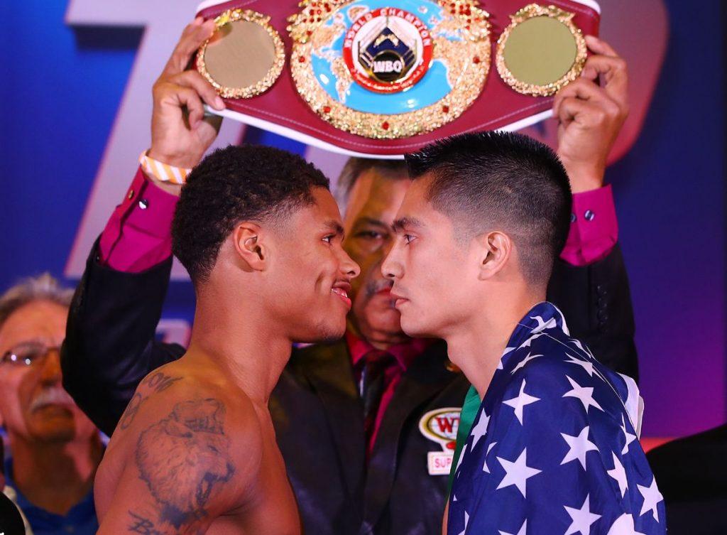 Shakur Stevenson vs. Joet González (Fotos: Mikey Williams/ Top Rank)