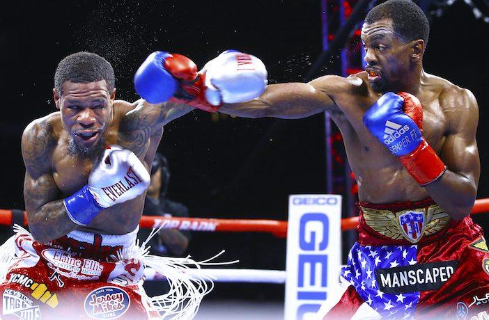 Lamont Roach Jr. vs Jamel Herring (Fotos: Mikey Williams/ Top Rank)