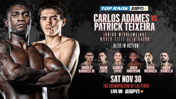 Carlos Adames vs Patrick Teixeira