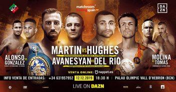 AZN- Cartel velada Matchroom Boxing Barcelona