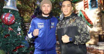 Carl Frampton y Óscar Valdez (Fotos: Mikey Williams/ Top Rank)
