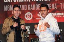 Leo Santa Cruz y Miguel Flores (Foto: Marcelino Castillo)