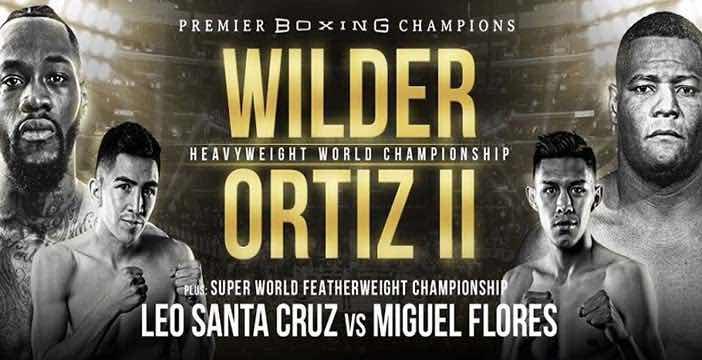 Wilder vs Ortiz cartelera