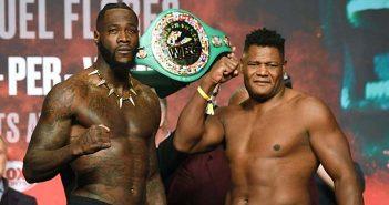 Wilder vs Ortiz en el pesaje (Foto: Skysports)