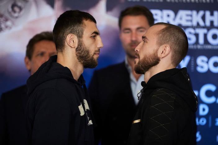 Besputin vs Butaev (Mark Robinson/Matchroom Boxing)