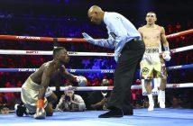 Richard Commey vs Teófimo López (FOTO: Mikey Williams/ Top Rank)