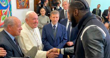 El Papa con Deontay Wilder (CMB)
