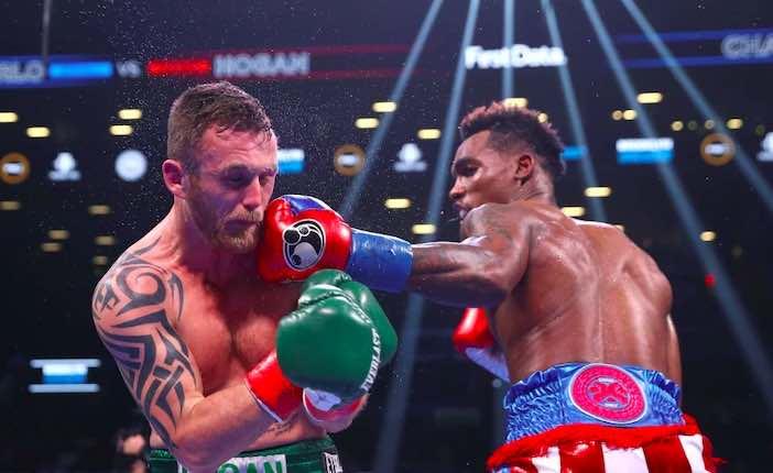 Jermall Charlo vs Dennis Hogan (AP Photo/Michael Owens)
