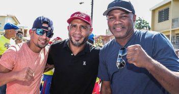 Caraballo, Cotto y Trinidad (Foto: Víctor Planas)