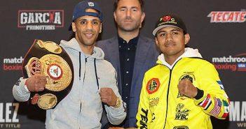 "Yafai y ""Chocolatito"" González (Foto: Matchroom Boxing)"