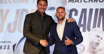 Eddie Hearn y Billy Joe Saunders (Matchroom Boxing)