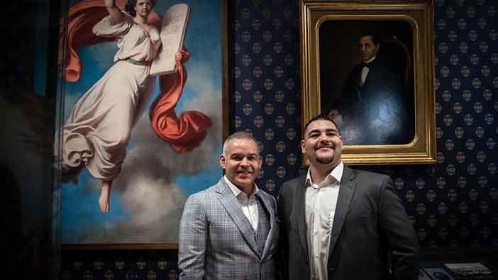 Mendoza y Andy Ruiz WBA Foto: Majo Gómez