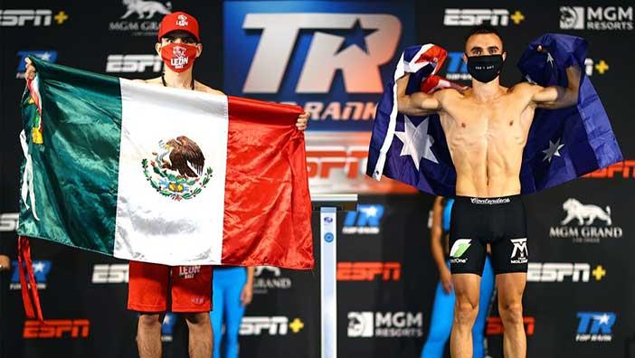 Jason Moloney vs. Leonardo Baez (Foto: Mikey Williams / Top Rank)