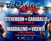 El boxeo en vivo está de vuelta: Shakur Stevenson y Jessie Magdaleno encabezarán carteleras de junio