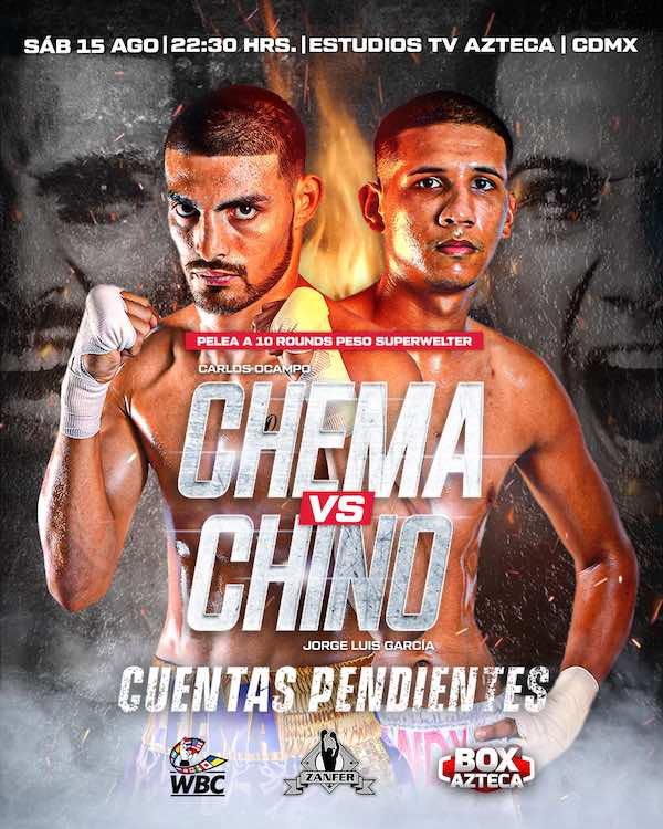 """Carlos """"Chema"""" Ocampo, vs Jorge """"Chino"""" García"""