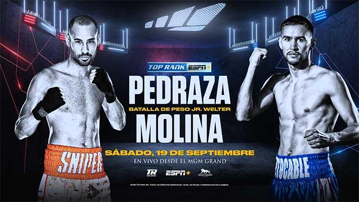 """José """"Sniper"""" Pedraza vs. Javier """"El Intocable"""" Molina"""