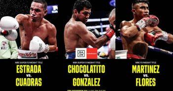 Estrada, Chocolatito y J.C. Martínez encabezan velada