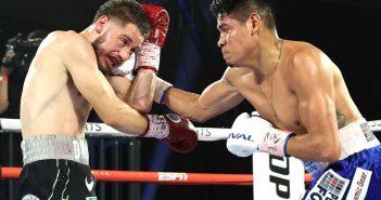 Emanuel Navarrete derrotó a Rubén Villa (Mikey Williams/Top Rank)