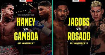 Haney vs Gamboa - Jacobs vs Rosado