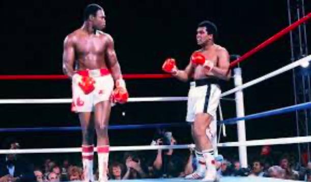 Larry Holmes y Muhammad Ali