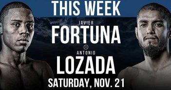 Javier Fortuna vs Antonio Lozada (PBC)
